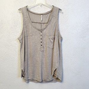 Free People Gray Over-sized Tank